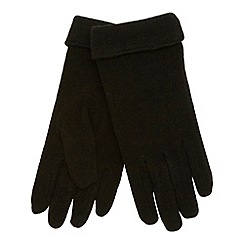 The Collection - Black turn back cuff gloves