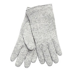 The Collection - Grey knit gloves