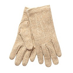 The Collection - Camel knit gloves