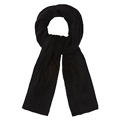The Collection - Black plain knitted scarf