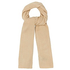 The Collection - Camel plain knitted scarf