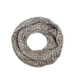 The Collection - Dark grey chunky eyelash knit snood