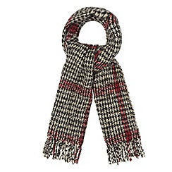 The Collection - Black dogtooth knitted scarf