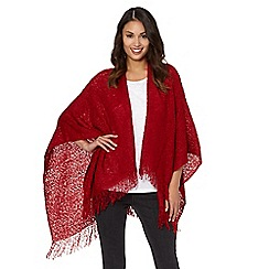 The Collection - Red loose knit wrap