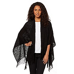 The Collection - Black loose knit wrap