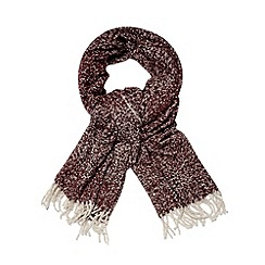 Betty Jackson.Black - Designer plum boucle scarf