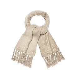 Betty Jackson.Black - Designer taupe fluffy scarf