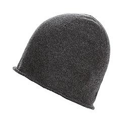 Betty Jackson.Black - Designer dark grey cashmere blend beanie hat