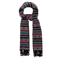 Principles by Ben de Lisi - Designer navy spot knitted blanket scarf
