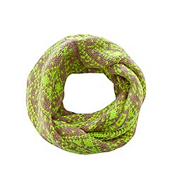 H! by Henry Holland - Neon green fairisle snood