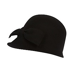 J by Jasper Conran - Designer black felted wool bow hat
