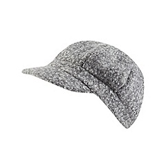 J by Jasper Conran - Designer grey fine tweed cap