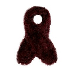 J by Jasper Conran - Designer dark red feather scarf