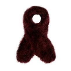 J by Jasper Conran - Designer dark red feather scarf