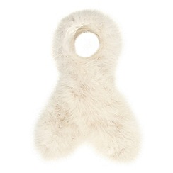 J by Jasper Conran - Designer ivory feather scarf