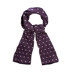 Bailey & Quinn - Navy merino spotted scarf