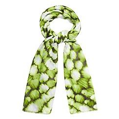 RJR.John Rocha - Designer lime tie dye effect scarf