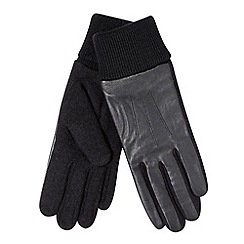 RJR.John Rocha - Designer black leather cuffed gloves