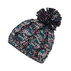 RJR.John Rocha - Designer navy metallic space dye bobble hat