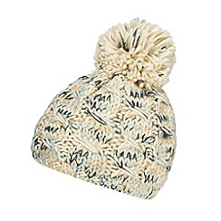 RJR.John Rocha - Designer cream space dye knit bobble hat