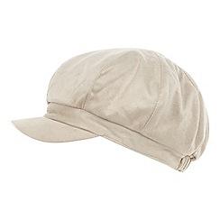 RJR.John Rocha - Designer cream mock suede baker boy hat