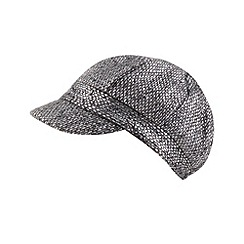 RJR.John Rocha - Designer grey metallic tweed baker boy hat