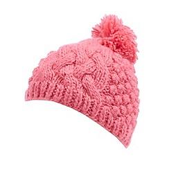 RJR.John Rocha - Pink popcorn knit bobble hat