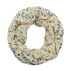 RJR.John Rocha - Designer cream space dye knit snood
