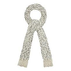 RJR.John Rocha - Designer cream sequin boucle scarf