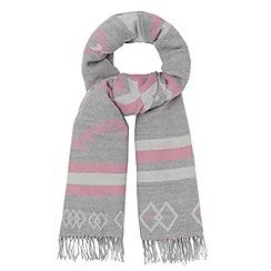 RJR.John Rocha - Designer pink aztec blanket scarf