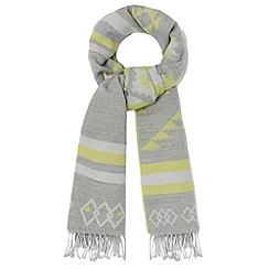 RJR.John Rocha - Designer lime aztec blanket scarf