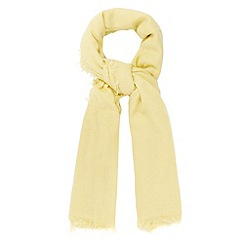 RJR.John Rocha - Designer lime woven tassel edge scarf