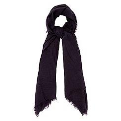 RJR.John Rocha - Designer navy woven frayed trim scarf