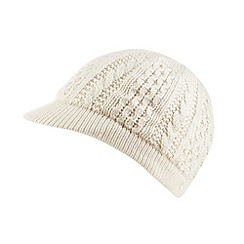 Star by Julien MacDonald - Designer cream knitted peak cap