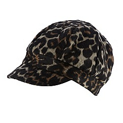 Star by Julien MacDonald - Designer brown leopard woven cap