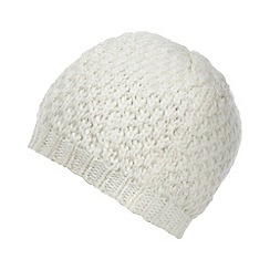 Star by Julien MacDonald - Designer cream metallic knitted cap