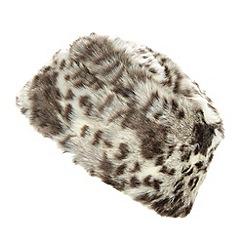 Star by Julien MacDonald - Designer faux snow leopard fur cossack style hat