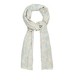 Mantaray - Grey geometric spot printed scarf