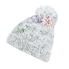 Mantaray - White bright space dye knit bobble hat