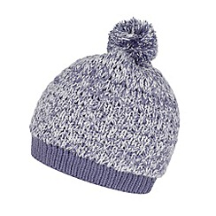 Mantaray - Blue fleece lined bobble hat