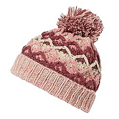 Mantaray - Pink zig zag bobble hat