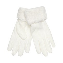 Mantaray - Cream fleece gloves