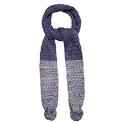 Mantaray - Blue knitted pom pom scarf
