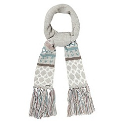 Mantaray - Grey tassel cuff winter scarf