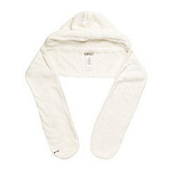 Mantaray - Cream hooded fleece scarf