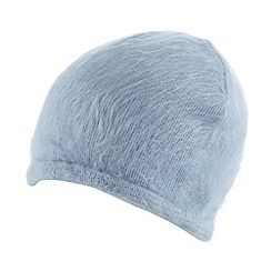 Red Herring - Pale blue fluffy beanie hat