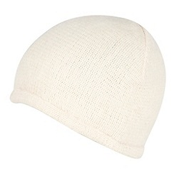 Red Herring - Cream fluffy beanie hat