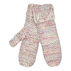 Red Herring - Pink space dye knitted mittens