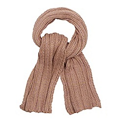 Red Herring - Pale pink chunky metallic knit scarf