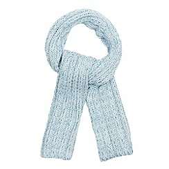 Red Herring - Pale blue chunky metallic knit scarf